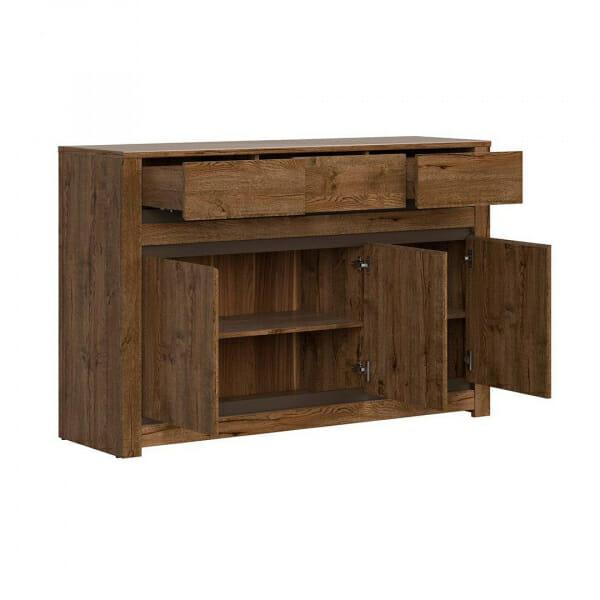 Шкаф с 3 чекмеджета и 3 вратички Када - разпределение