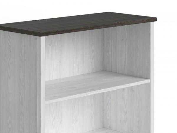 Шкаф с чекмедже и 3 открити рафта Порто - детайл горна част