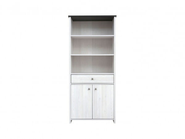 Шкаф с чекмедже и 3 открити рафта Порто - отпред