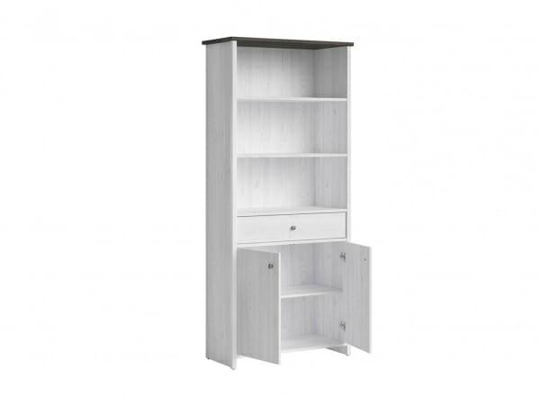 Шкаф с чекмедже и 3 открити рафта Порто - разпределение