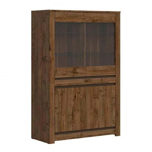 Шкаф витрина в дървесен цвят Када