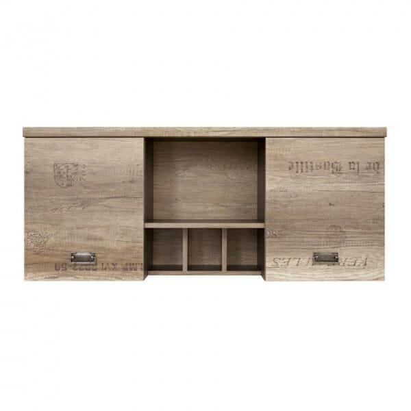 Стенен шкаф със старинна визия Малкълм - отпред