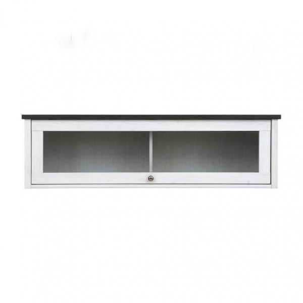 Стенен шкаф витрина в дървесни тонове Порто - отпред
