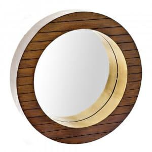 Стенно огледало с дървена рамка в кафяв цвят-размер 1