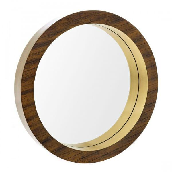 Стенно огледало с дървена рамка в кафяв цвят-размер 2