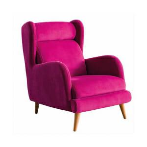 Стилно кресло в розов цвят Rino I