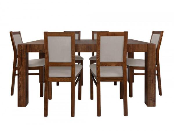 Трапезна маса и столове Када - отпред