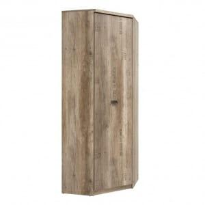 Ъглов гардероб в дървесен цвят Малкълм