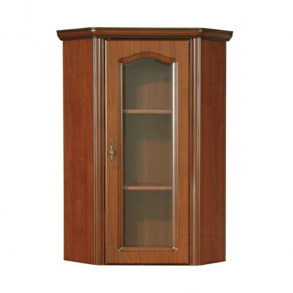 Ъглов шкаф витрина в класически стил Наталия с десни панти