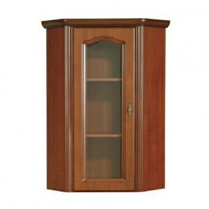 Ъглов шкаф витрина в класически стил Наталия с леви панти