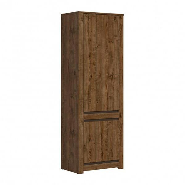 Висок шкаф с 2 вратички в дървесен цвят Када
