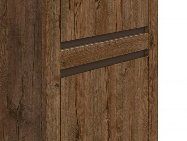 Висок шкаф с 2 вратички в дървесен цвят Када - детайл
