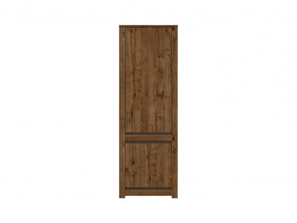Висок шкаф с 2 вратички в дървесен цвят Када - отпред