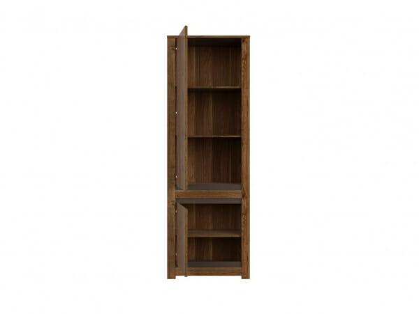 Висок шкаф с 2 вратички в дървесен цвят Када - леви панти
