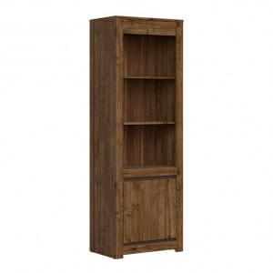 Висок шкаф с открити рафтове и вратичка Када