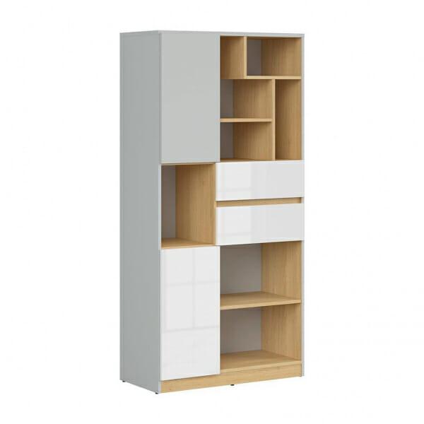 Висок шкаф с открити рафтове Нанду
