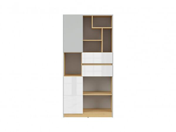 Висок шкаф с открити рафтове Нанду - отпред