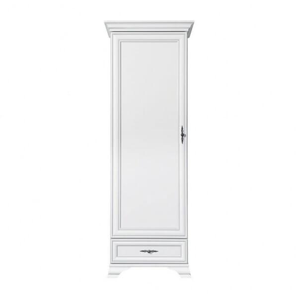 Висок шкаф в бяло с класическа визия Иденто