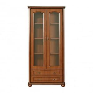 Висок шкаф витрина с 2 чекмеджета Наталия
