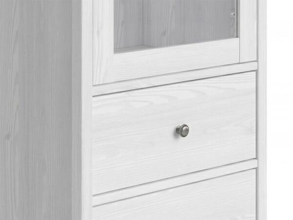 Висок шкаф витрина с 2 чекмеджета Порто - детайл