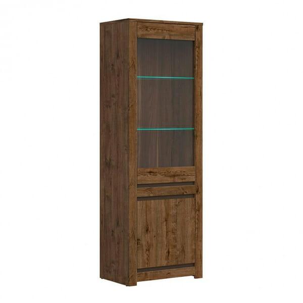 Висок шкаф витрина с LED осветление Када