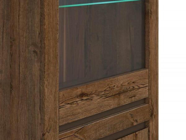 Висок шкаф витрина с LED осветление Када - детайл