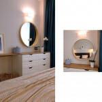 Спалня с тоалетка и огледало