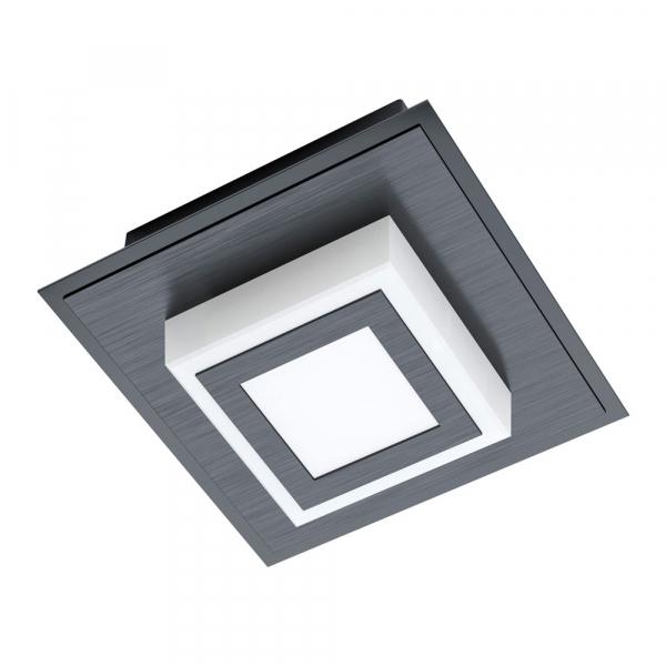 Черен LED плафон/аплик Masiano 1 с 1 тела