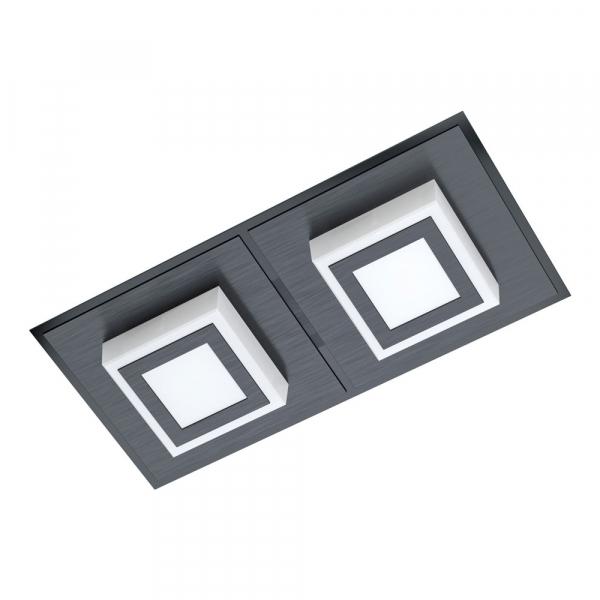 Черен LED плафон/аплик Masiano 1 с 2 тела