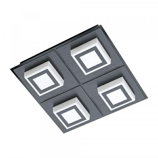 Черен LED плафон/аплик Masiano 1 с 4 тела