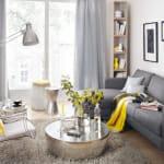 Модерна дневна в сиво и жълто