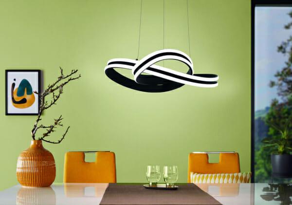 LED пендел в черно и бяло Corredera -декор