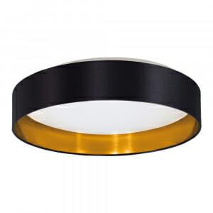 LED плафон в златно и черно Eglo серия Maserlo 2