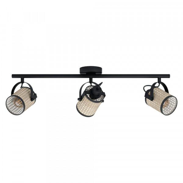 LED Спот с 3 тела и бежова плетеница Ruscomb