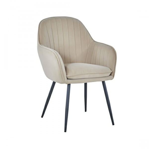 Трапезен стол от текстил с подлакътници (2 цвята)