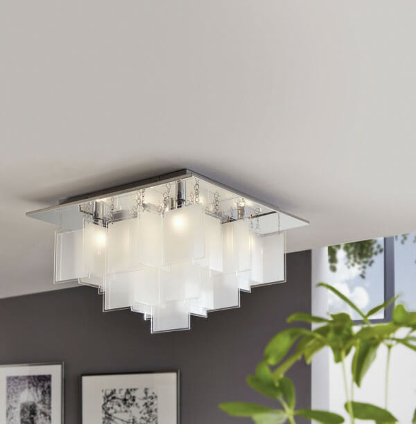 Авангарден LED плафон oт стъкло Conrada 1 - размер 2 - декор