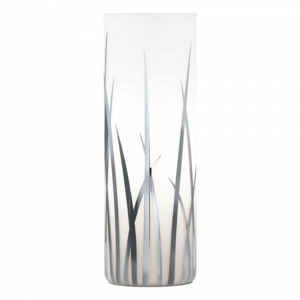 Цилиндрична настолна лампа с декорирано стъкло Rivato