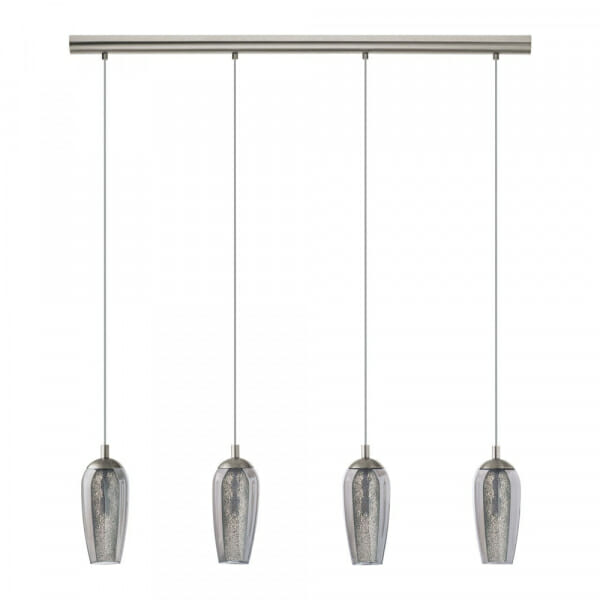 Елегантен LED пендел с 4 тела от опушено стъкло Farsala