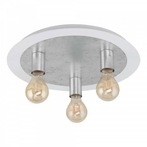 Кръгъл LED плафон в сребристо Passano - размер 1