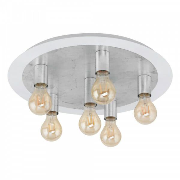 Кръгъл LED плафон в сребристо Passano - размер 2