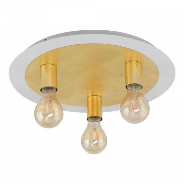 Кръгъл LED плафон в златисто Passano - размер 1