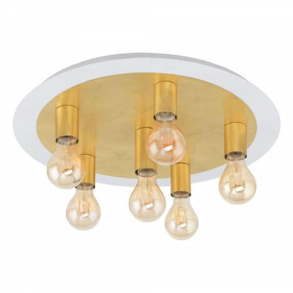 Кръгъл LED плафон в златисто Passano - размер 2