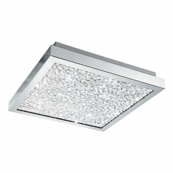 Квадратен LED плафон с кристали Cardito - размер 1