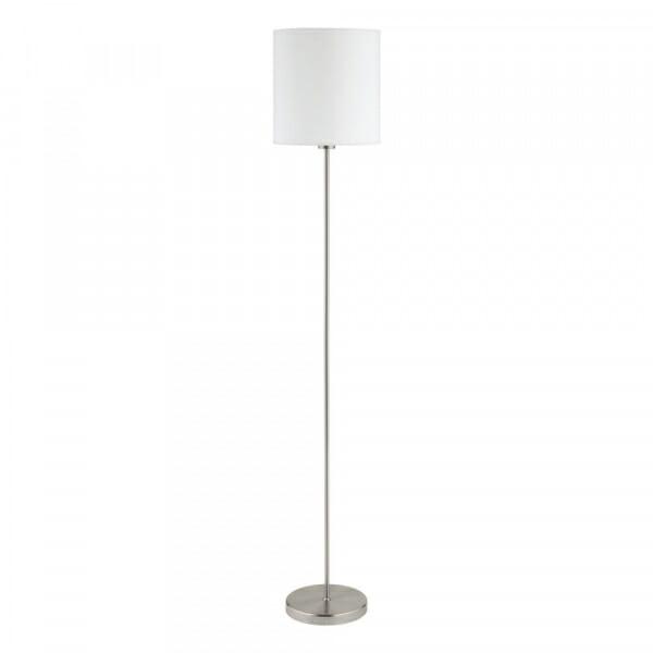 Лампион с цилиндрично текстилно тяло Pasteri в бял цвят