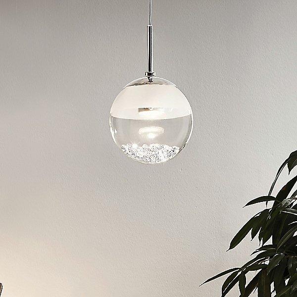 LED пендел с 1 топка с кристали Montefio 1 - декор