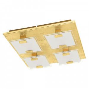 LED плафон/аплик със златиста основа Vicaro 1 с 4 тела