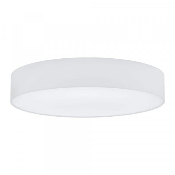 Модерен кръгъл плафон от текстил Pasteri в цвят бяло