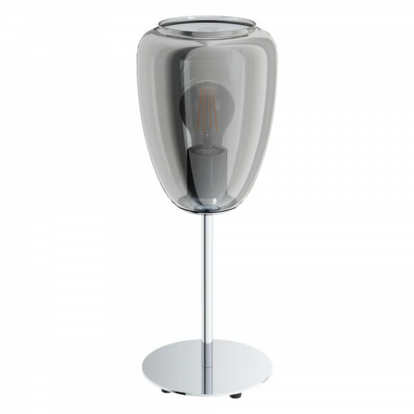 Настолна лампа с чашка от затъмнено стъкло Alobrase