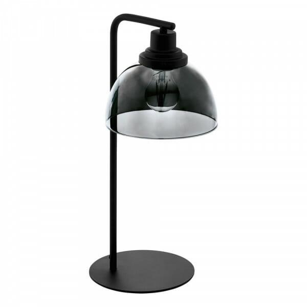 Настолна лампа в черно с опушено стъкло Beleser