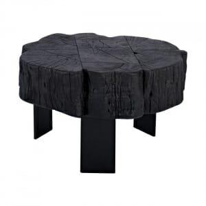 Ниска холна маса в черен цвят с атрактивна визия
